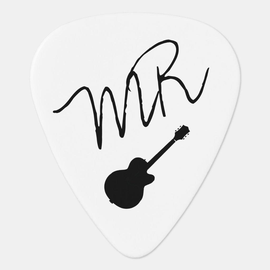 guitar-picks personalised for the guitarman