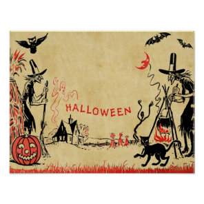 Halloween Witches Poster
