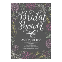 Handdrawn Botanicals | Bridal Shower Paper Invitation Card