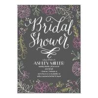Handdrawn Botanicals | Bridal Shower 5x7 Paper Invitation Card