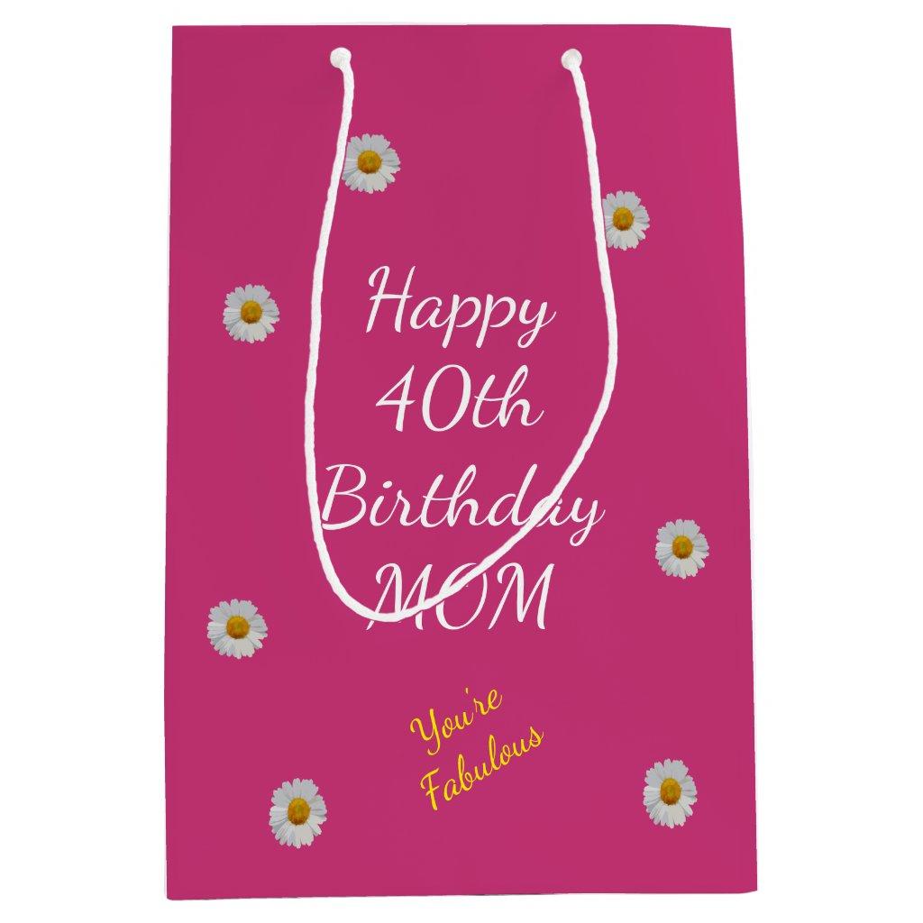 Happy 40th Birthday Mum Gift Bag