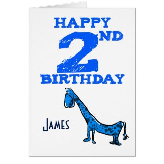 Happy 4th birthday cartoon dinosaur blues - boys
