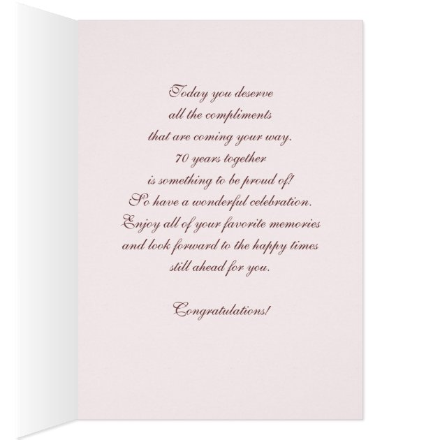 Happy 70th Wedding Anniversary Greeting Cards Zazzle