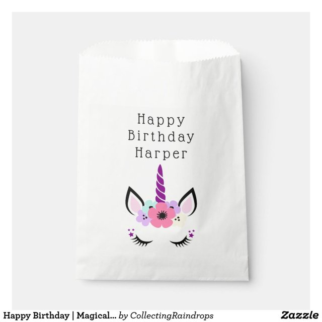 Happy Birthday | Magical Unicorn Favour Bag