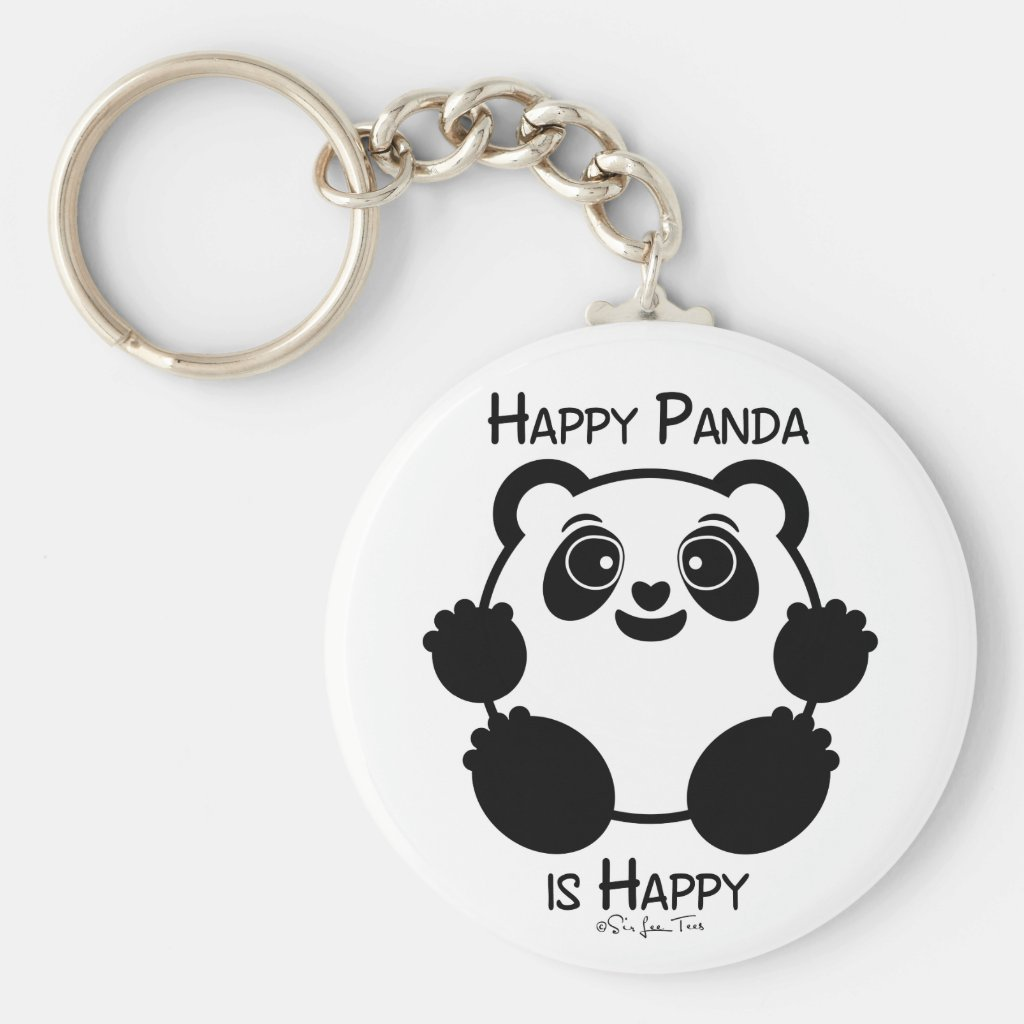 Happy Panda Keyring