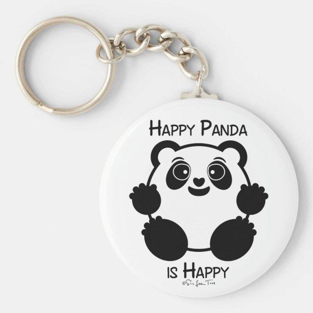 Happy Panda Keyring