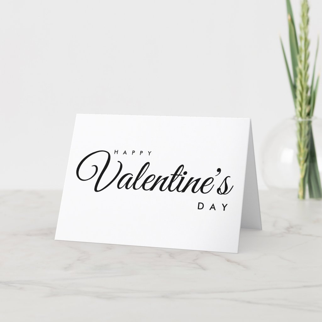 Happy Valentine's Day Folded Holiday Card