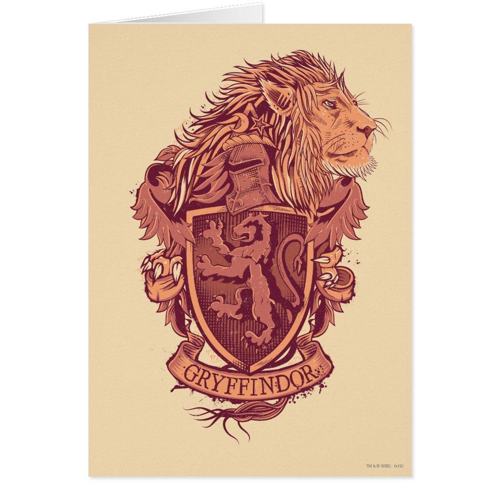 Harry Potter | Gryffindor Lion Crest Card