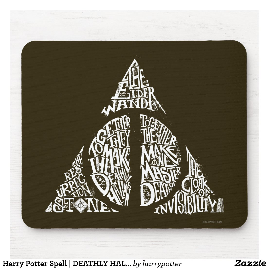 Harry Potter Spell | DEATHLY HALLOWS Typography Mouse Mat