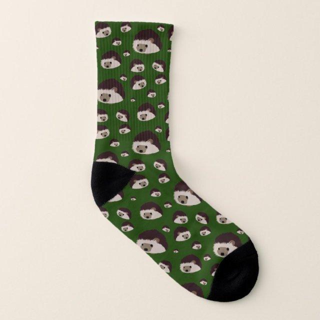 Hedgehogs Socks (Dark Green)