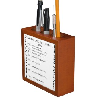 Helpful Grammar Hints Desk Organiser