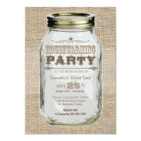 Housewarming Party Mason Jar Card