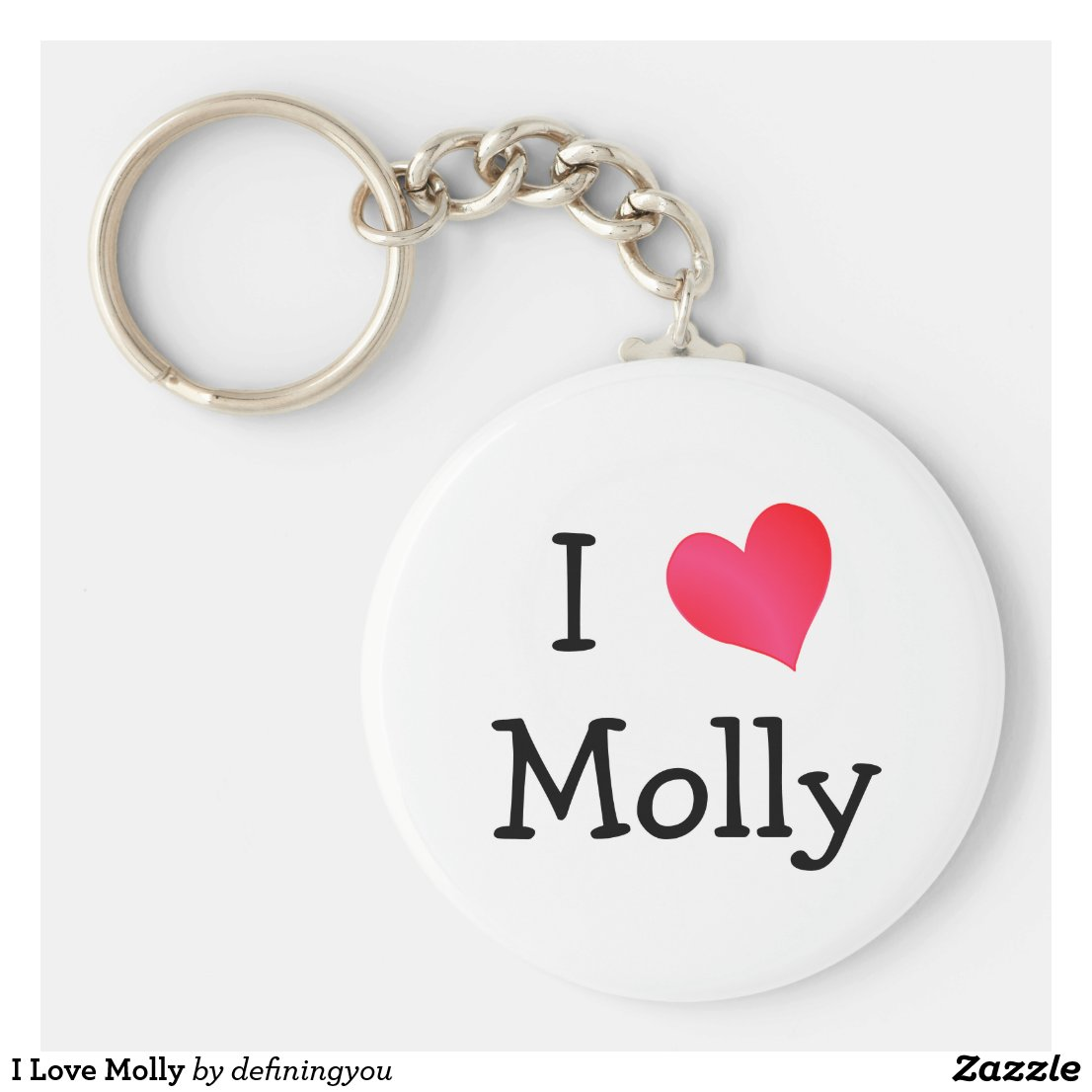 I Love Molly Keyring