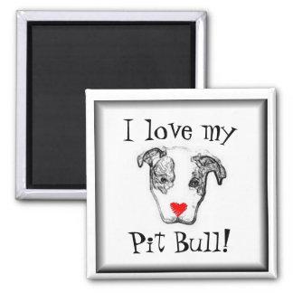 Download Pit Bull Magnets, Pit Bull Fridge Magnets - Zazzle UK