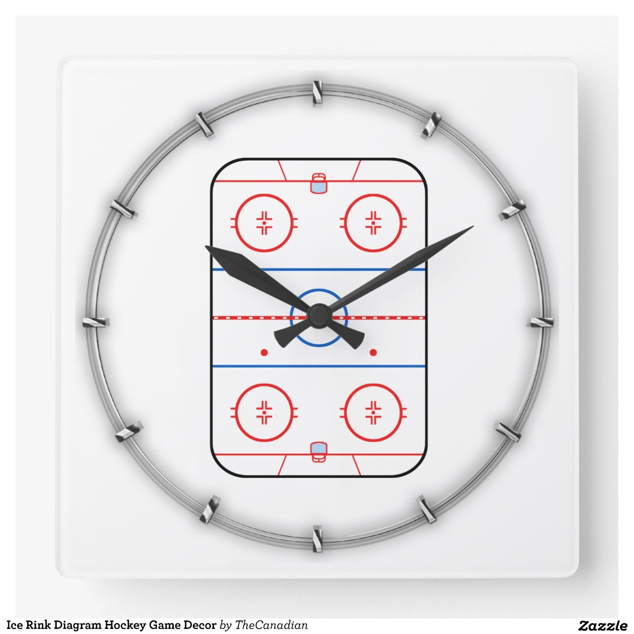 hockey rink diagram thermolec electric boiler wiring ice game companion wall clocks zazzle