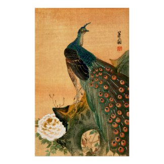 Japanese Peacock no.2 Poster