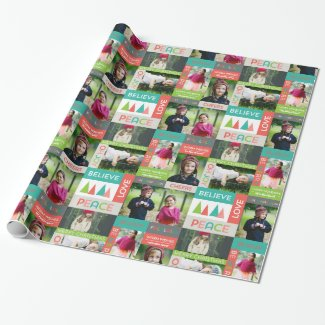 Holiday Photo Collage Gift Wrap