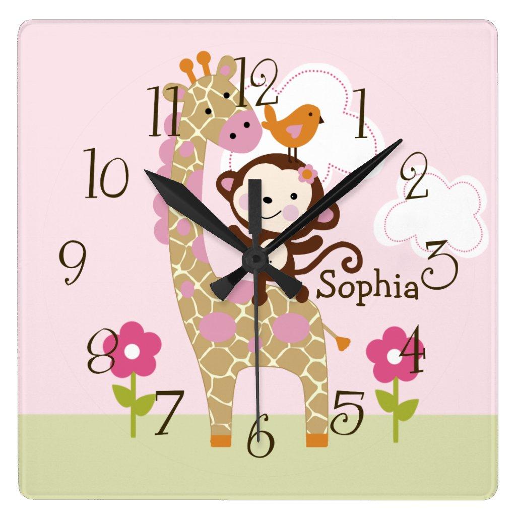 Cute Personalised Jungle Clock