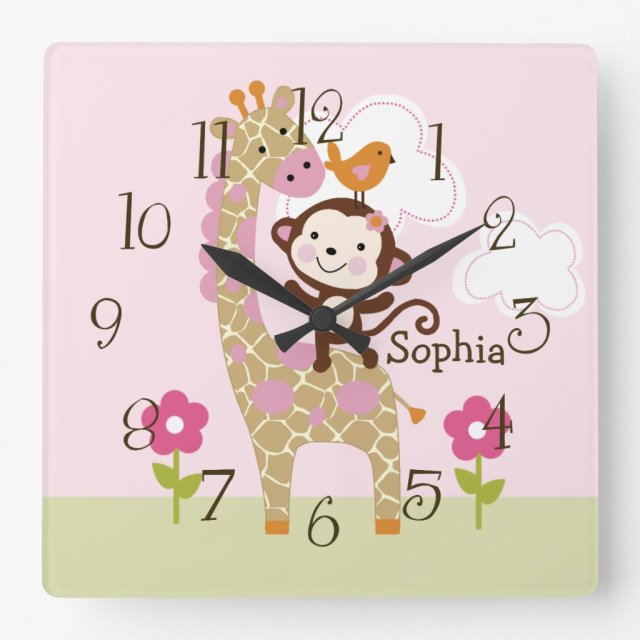 Cute Personalised Jungle Clock