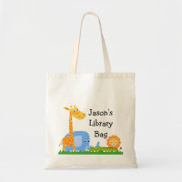 Personalized Safari Animals Tote Bag