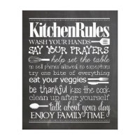 Kitchen Rules Canvas Print