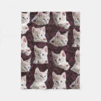 Kitty Cat Faces Fleece Blanket