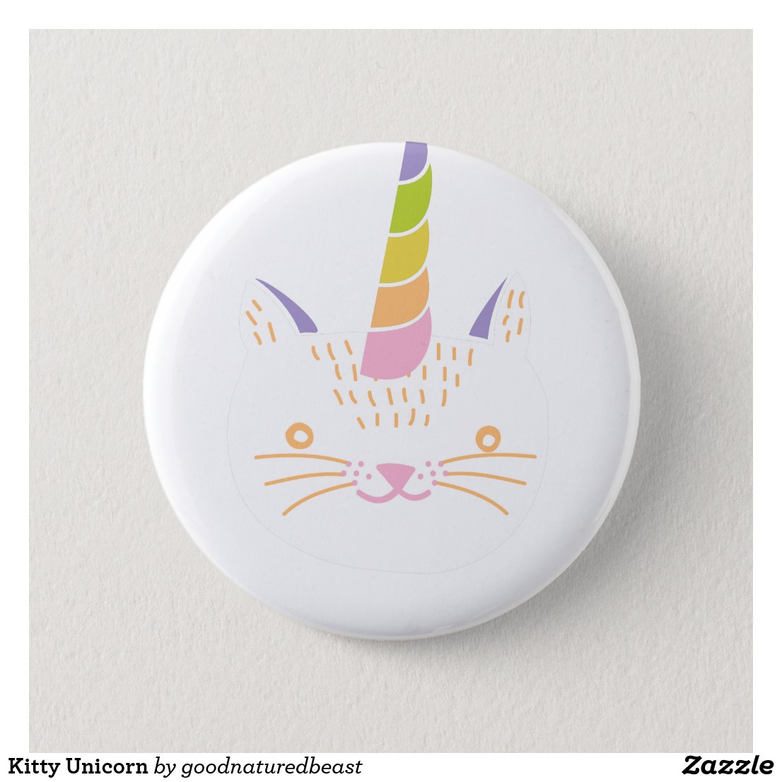 Kitty Unicorn Badge