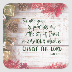 bible verse christmas stickers