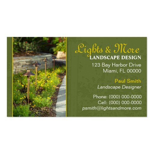 landscaping business card zazzle