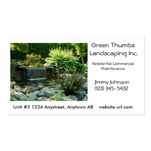 collections of landscaping business