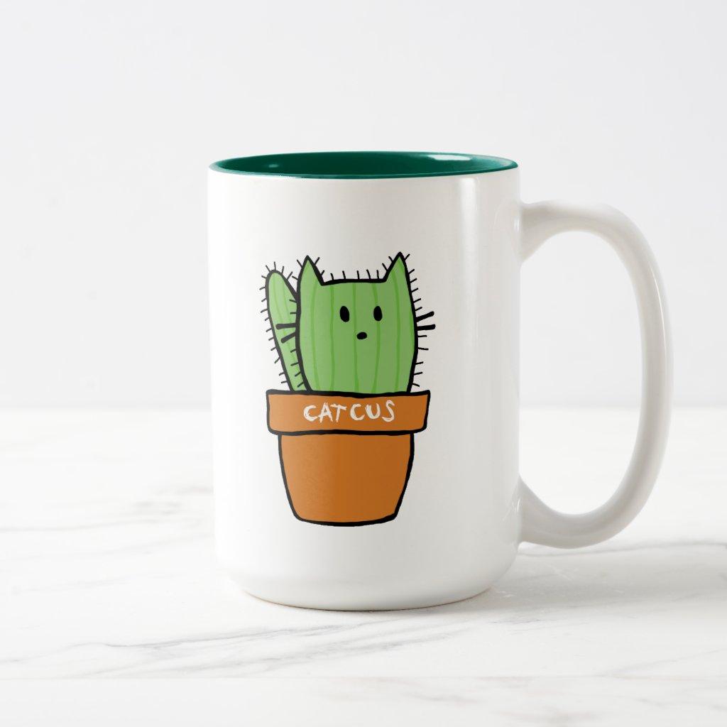 Large two-tone Cactus Mug - Pumpkin