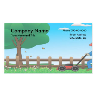 yard work business cards