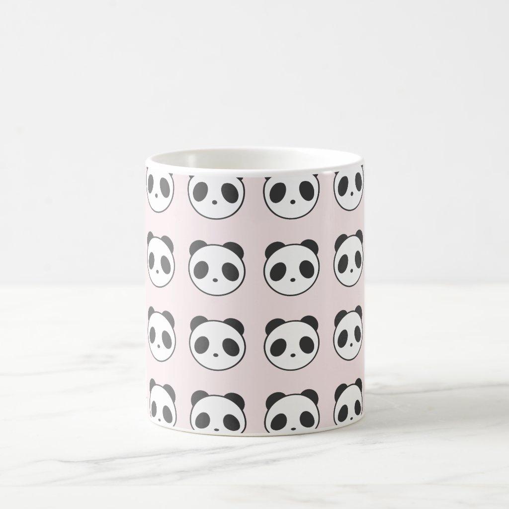 Light Pink Panda Patterned Mug