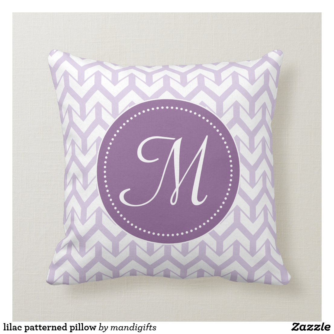 lilac patterned pillow