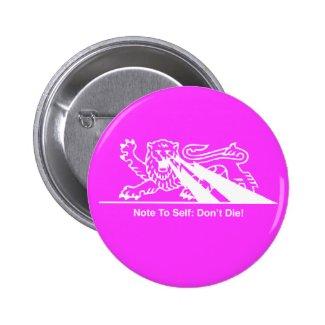 Lion w/Lightning Bolts { Pink 3 } Pin
