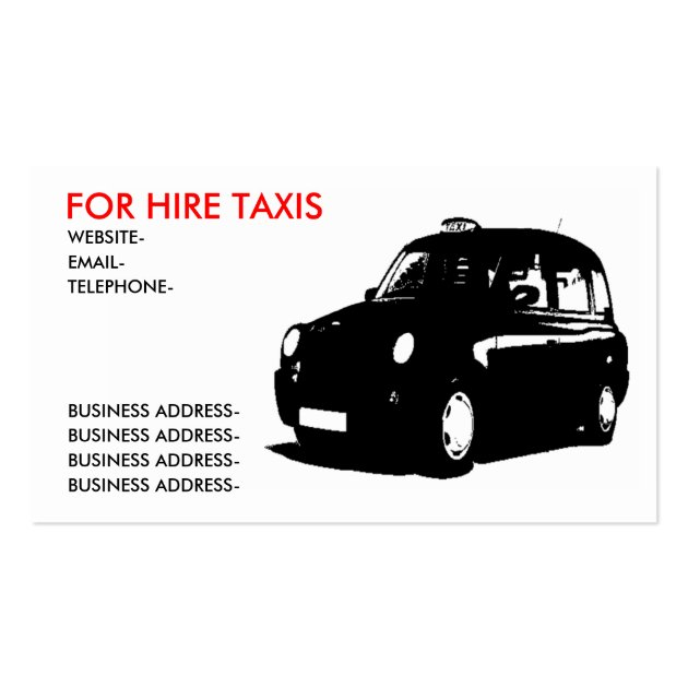 London Taxi Business Cards