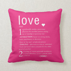 Love Dictionary Definition Valentine Typography Cushion