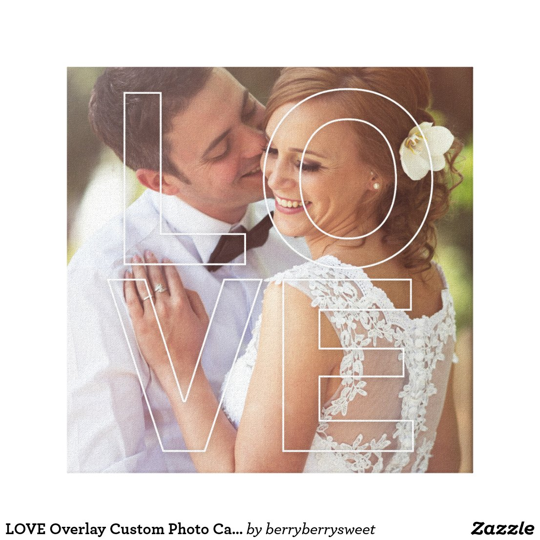 LOVE Custom Photo Canvas