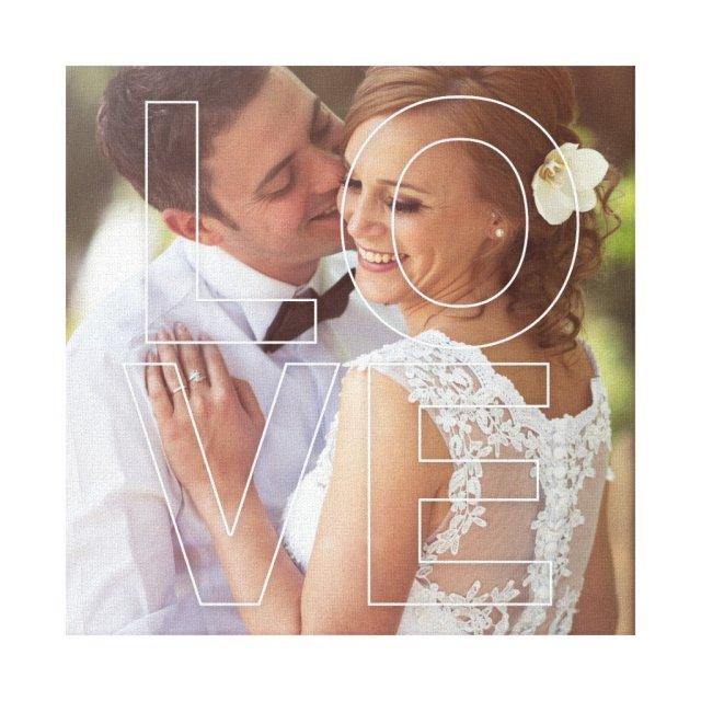 LOVE Custom Photo Canvas