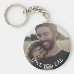 Love you Dad, Personalised Photo Key Chain