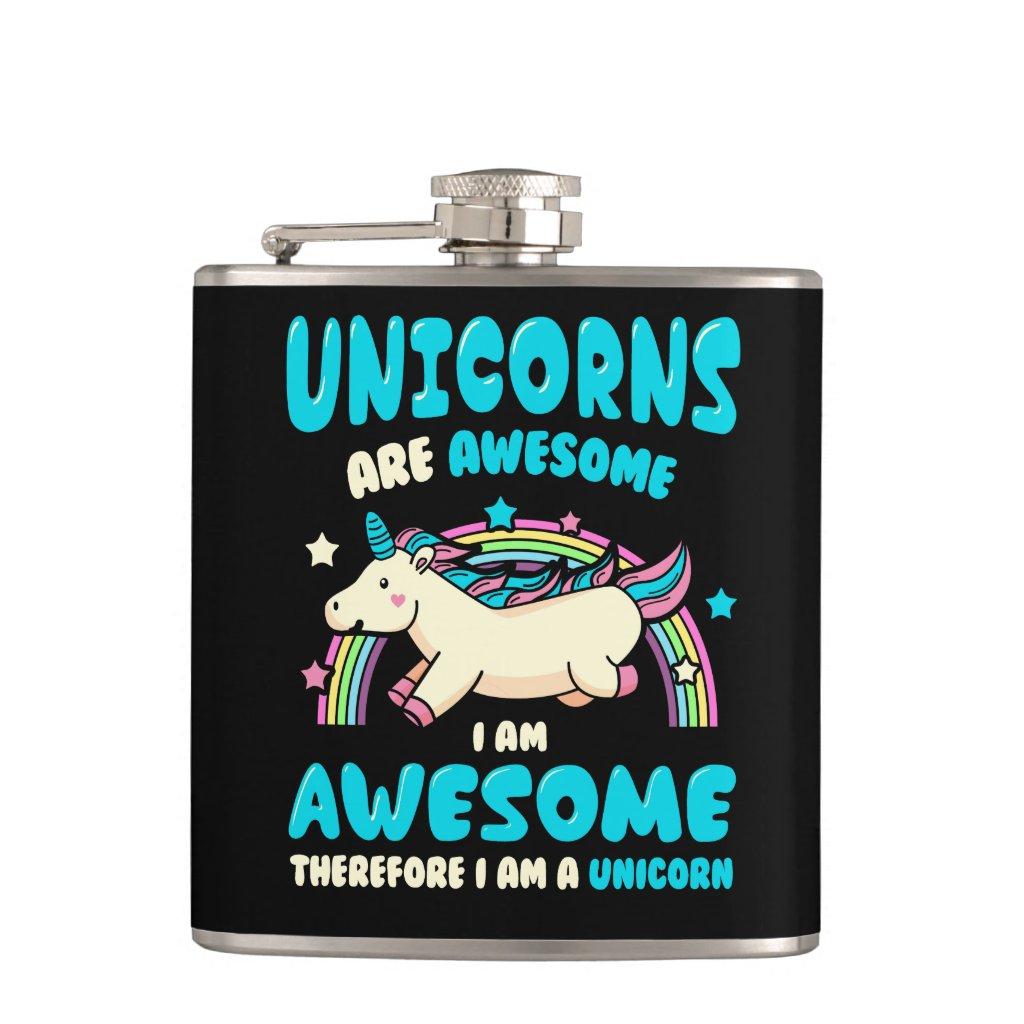 Magic Unicorn Hip Flask