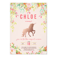 MAGICAL UNICORN BIRTHDAY PARTY INVITATION