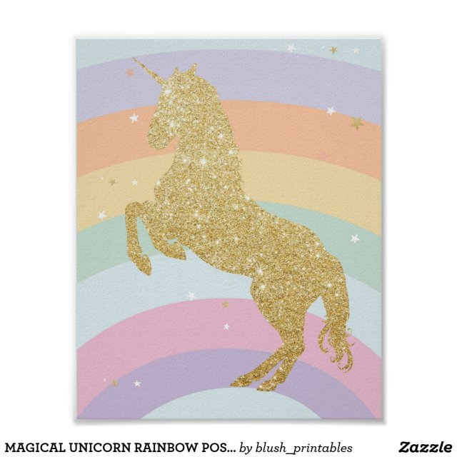 MAGICAL UNICORN RAINBOW POSTER