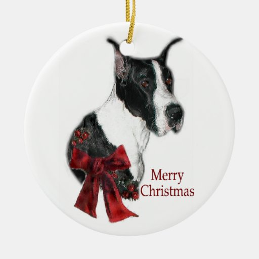 Mantle Great Dane Christmas Gifts Ornament Zazzle