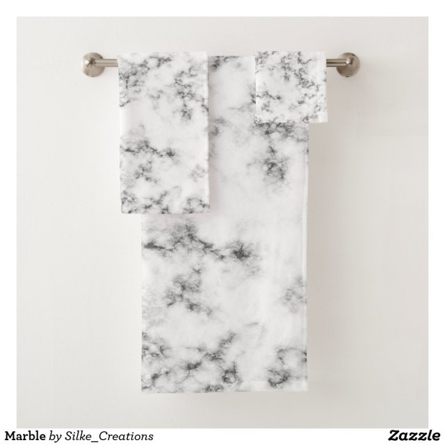 Marble Bath Towel Set
