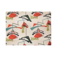Mid Century Modern Atomic Mobile Door Mat | Zazzle.co.uk