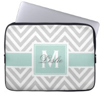 CHEVRON PATTERN PERSONALIZED LAPTOP SLEEVE