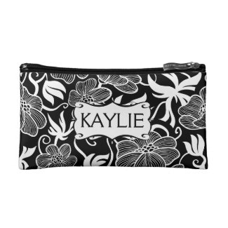 Mod Floral in Black and White Personalised