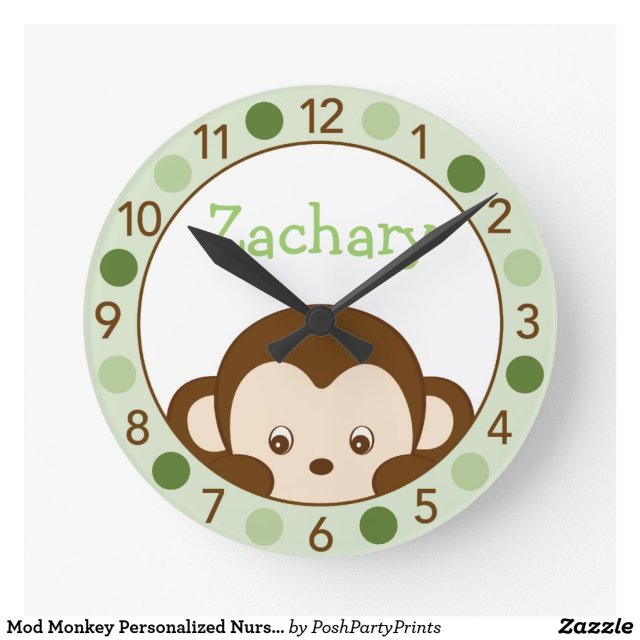 Monkey Personalised Wall Clock