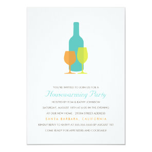Mod Vino Housewarming Party Invitation